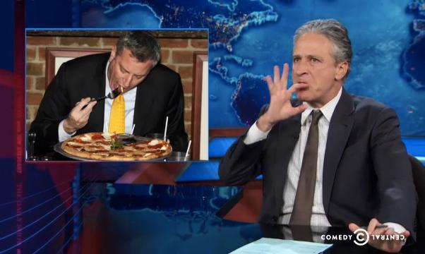 Daily-Show-Pizza-Jon-Stewart-bill-De-Blasio-Forkgate