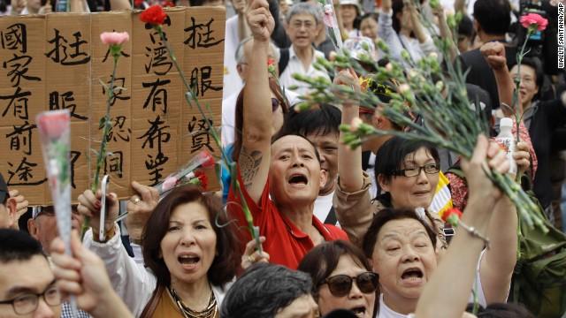 Taiwan-anti-protest-rally
